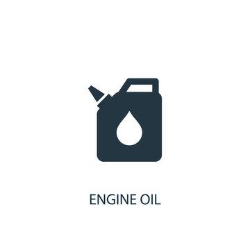 engine oil icon. Simple element illustration