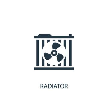 Radiator icon. Simple element illustration