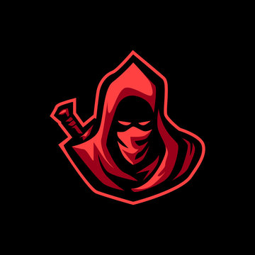 ASSASSIN E SPORTS LOGO FOR GAMING MASCOT OR TWITCH