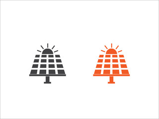 Solar panel icon vector isolated on white background.