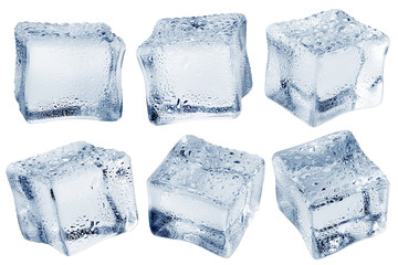ice cube, isolated on white background, clipping path, full depth of field