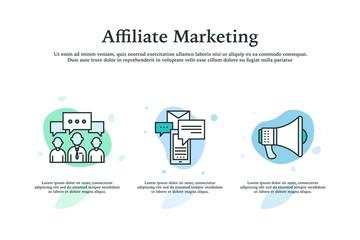 Affiliate Marketing Icon Concept