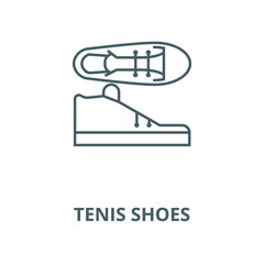 Tenis shoes vector line icon, outline concept, linear sign