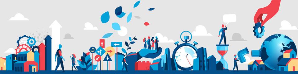 Società dell'innovazione e della tecnica Wall mural