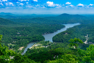View of Lure Lake from Chimney Rock NC