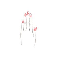 女性の手、素材