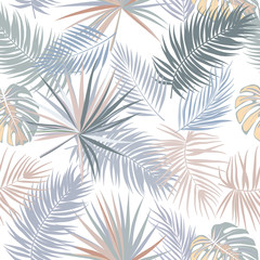 Tropical vector seamless pattern.