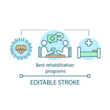 Best rehabilitation programs concept icon
