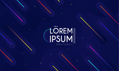 Minimal Geometric Motion Design. Dynamic Space. Abstract Colorful Background.
