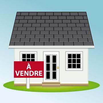 Maison à vendre. Illustration vectorielle immobilier II.