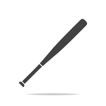 Baseball bat icon vector isolated
