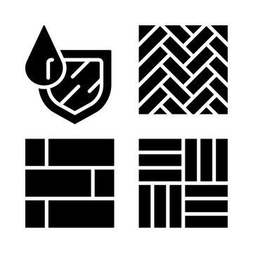 Waterproof flooring glyph icon