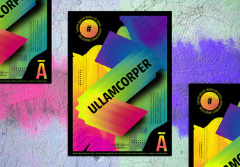 Modern Abstract Rainbow Poster Layout