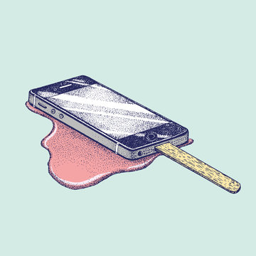 Smartphone Popsicle