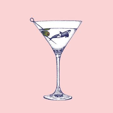 Orca In A Martini Glass