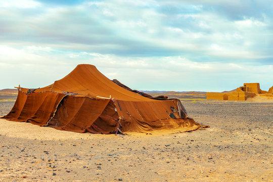 Bedouin tent in the Sahara Desert, Morocco.