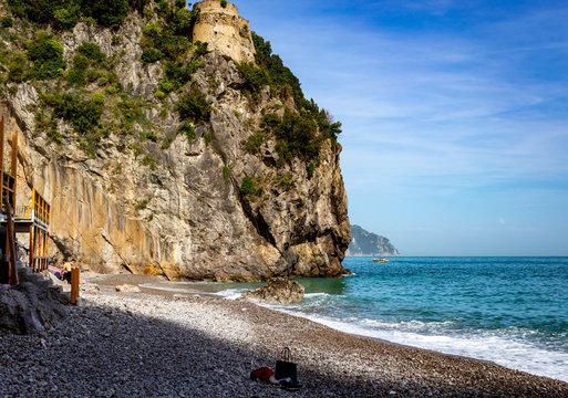 beach on the amalfi coast italy