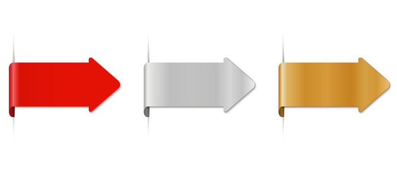 set of colorful arrow labels