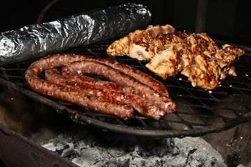 A traditional South African braai (BBQ).