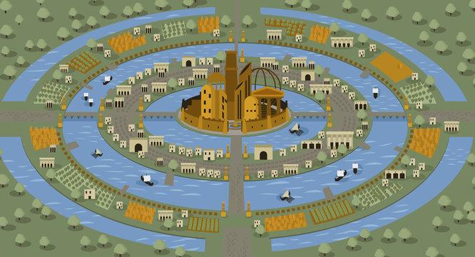 atlantis circles islands lost civilization