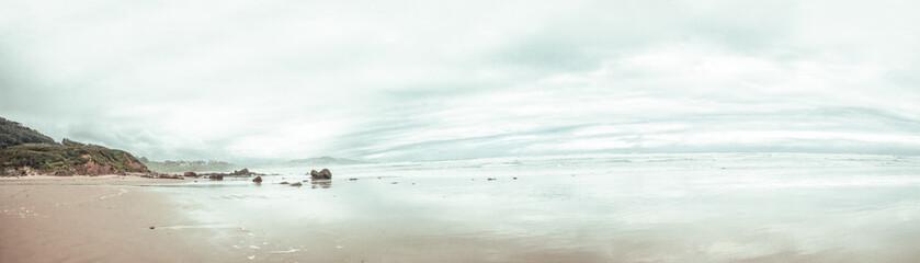 Deurstickers Noord Europa Oyambre beach in Cantabria, north of Spain