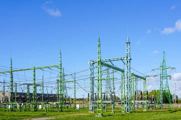 Electricity and power generation industry electric power transformation substation
