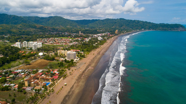 Jaco is a resort city on the Pacific Coast of Costa rica in Central America. Located in the country of Garabito in the Puntarenas province. Jaco is 4km long and famous for surfing