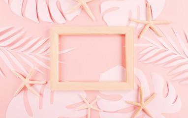 종이 야자수잎, 종이컨셉의 여름배경