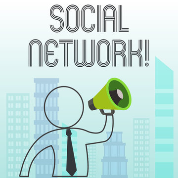 Text sign showing Social Network. Business photo text a network of social interactions and demonstratingal relationships