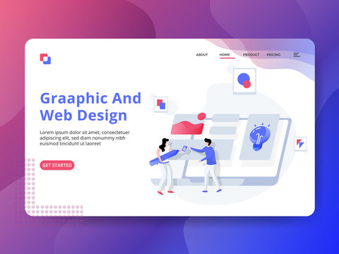 Landing Page Graphic And Web Design