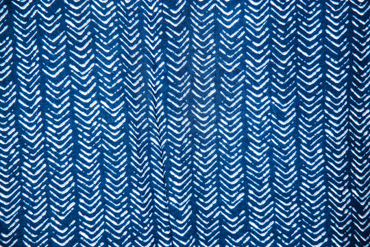 Seamless Fabric Pattern with Dry Watercolor indigo.