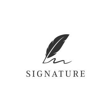 signature vector logo design