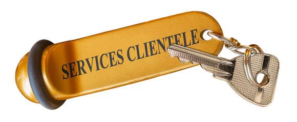 Services clientèle, porte-clefs hôtel