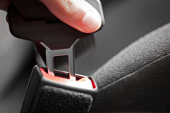 Car Seat Belt Fastened