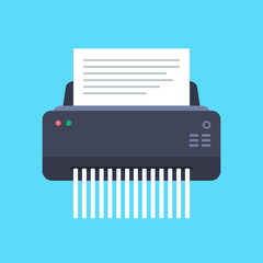Paper Shredder Machine Vector Illustration.