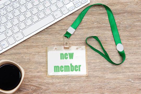 new member on badge