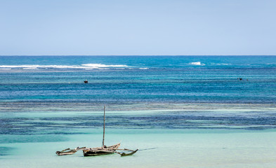 Amazing Diani beach seascape, Kenya