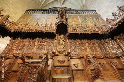 Coro Del Monasterio De Santa Maria La Real Najera La Rioja Stock