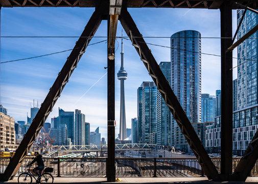 Toronto scenic view of CN tower