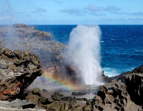 Nakalele Blowhole Rainbow