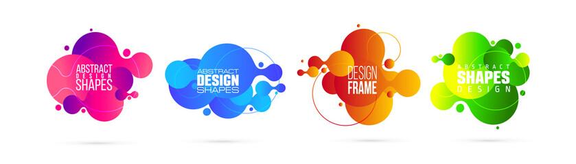 Obraz vector illustration. modern organic liquid. graphic frame design for text. - fototapety do salonu