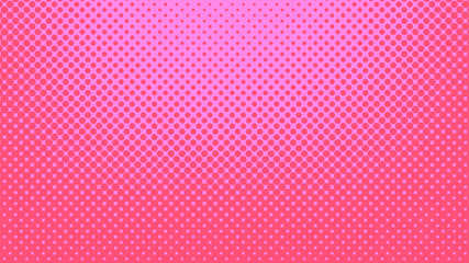 Magenta and pink pop art background in retro comic style with halftone dots, vector illustration of backdrop with isolated dots