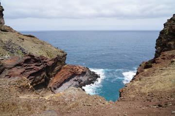 Ponta do Sao Lourenco Madeira landscape in a cloudy summer day