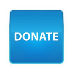 Donate shiny blue square button