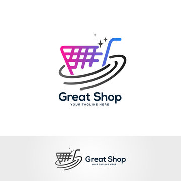 shopping logo design vector, shopping cart logo designs