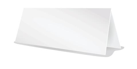 Blank table name card. vector illustration