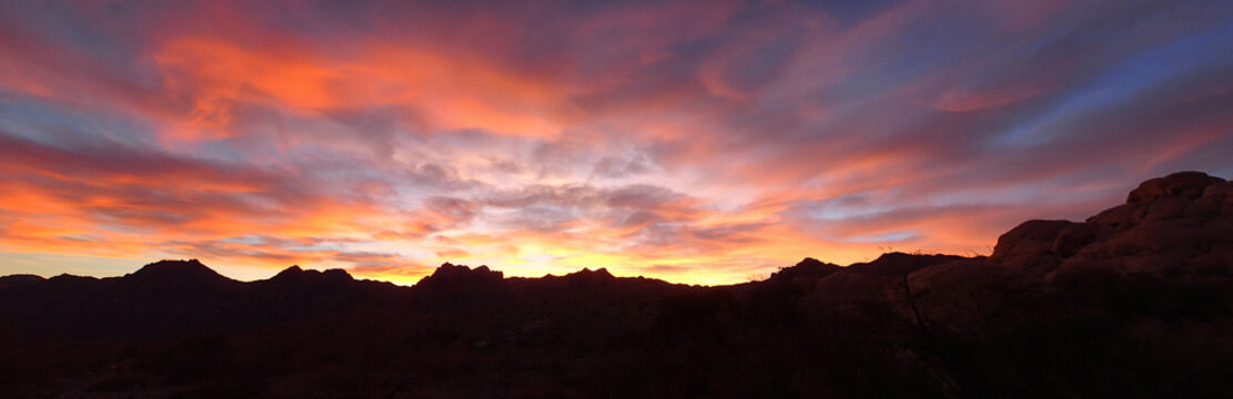 Red Rocks Canyon Outside of Las Vegas, Nevada at Sunset