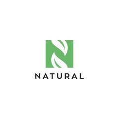 N letter for natural vector logo design