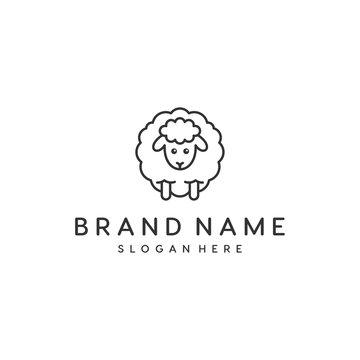 sheep wool symbol vector logo design