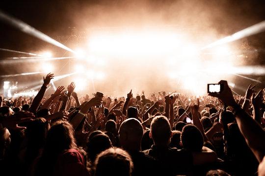 Music festival at night!